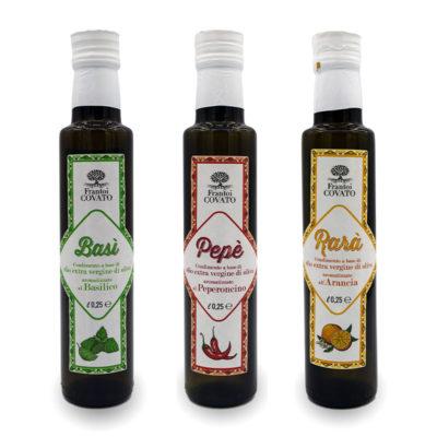 Olio extravergine oliva aromatizzato