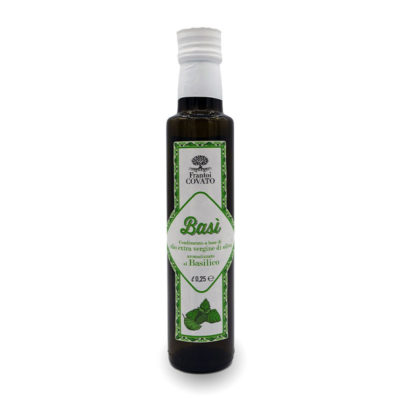 Olio extravergine oliva aromatizzato Basilico