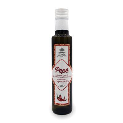 Olio extravergine oliva aromatizzato Peperoncino