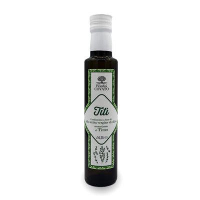Olio extravergine oliva aromatizzato Timo